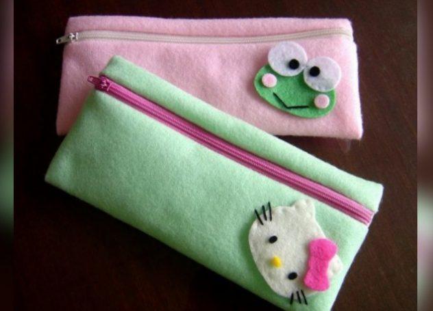 Carar membuat Tas dari kain Flane;
